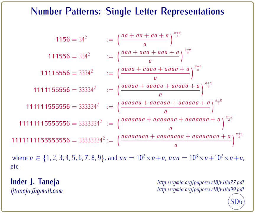 Number Patterns: Single Letter Representations – Numbers Magic